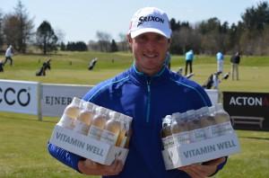 Marcus Palm vandt et års forbrug af Vitamin Well ved Freja Championship