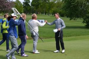 Rasmus Hjelm gik 64 i anden runde af Landskrona Masters. Han skal fredag spille førerbold med Tony Edlund og Richard Pettersson