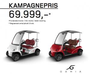 Special Edition Made in Denmark Garia til spotpris. Vil du køre golfsports Ferrari?