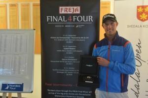 Jacob Glennemo løb med sejren i FREJA Final 4Four 2014. Finaleformatet fortsætter med opbakning fra FREJA i 2015, hvor Maurice Lacroix Masterpiece uret nu har en værdi på hele 97.500 kroner.