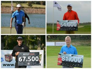 Lucas Bjerregaard, Morten Ørum Madsen, Jesper Billing og Jeff Winther vil i fremtiden kunne indsamle point til verdensranglisten, når de slutter i top-4 på ECCO Touren