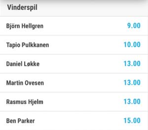 Björn Hellgren er bookmakernes favorit ved Made in Denmark Qualifier by Ejner Hessel, mens Daniel Løkke, Martin Ovesen og Rasmus Hjelm er mest sandsynlige danske vinder.
