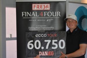 Nicolai Tinning fører FREJA Final 4Four efter sejren i Danæg PGA Championship på Skjoldenæsholm Golf Center.
