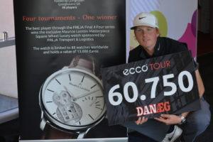Nicolai Tinning jagter det dyre Maurice Lacroix ur, der er til vinderen af FREJA Final 4Four.