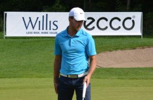 Tobias Rosendahl fører Willis Masters i Kokkedal Golfklub inden fredagens afsluttende 18 huller.