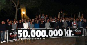 ECCO Tour runder 50 millioner kroner i udbetalte præmiepenge. På billedet ses feltet ved ECCO Tour Winter Series 2016