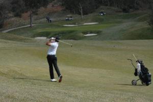 Martin Ovesen på hul 9 på Stadium Course på PGA Catalunya Resort
