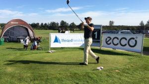 Mark Haastrup jagter fredag sejren ved Thisted Forsikring Championship i Storådalens Golfklub