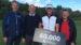 Kasper Estrup vandt Thisted Forsikring Championship i Storådalens Golfklub. Han ses her med direktør i Thisted Forsikring og de to baneejere.