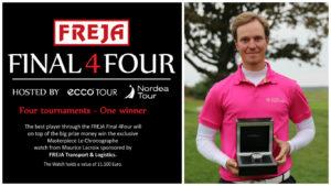 Alexander Wennstam vandt FREJA Final 4Four 2017. Han kan derfor iføre sig det eksklusive Maurice Lacroix Masterpiece ur (værdi 75.000 kroner), som FREJA havde udsat som præmie